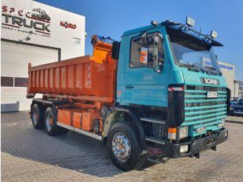 Hook lift truck SCANIA 113M380 ,Full Steel, Big axles!!! 1-site Tipper ,Manual