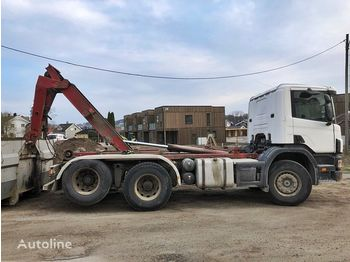 Hook lift truck SCANIA P114 6x2 *Abrollkipper*Multilift*Euro 3