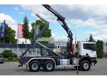 Hook lift truck SCANIA P 400 6x6 Darus emelőhoroggal emelőkosárral