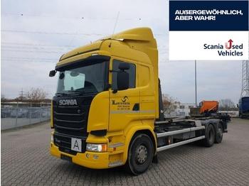 Hook lift truck SCANIA R 450 LB6x2*4HNA gelenkte Nachlaufachse VDL