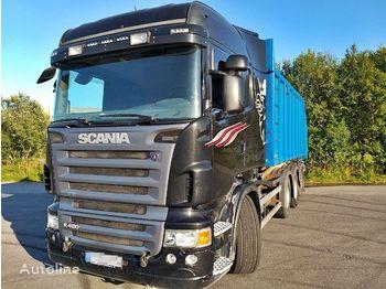 Hook lift truck SCANIA R 480 8x4 *Abrollkiper*Hiab 20T*Retarder*