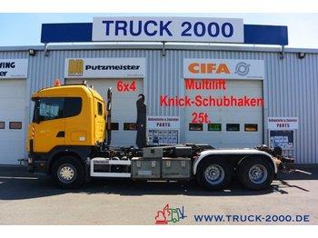 Hook lift truck Scania 124G470 6x4 Multilift Knick- Schub Haken 25 to.
