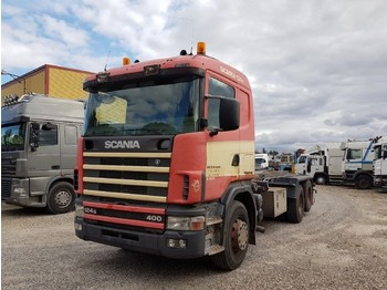 Scania 124.400 6x2 Abroller 10 Tyres Manual - hook lift truck