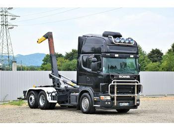 Hook lift truck Scania 164 L - 480 Abrollkipper 5,30m* Top Zustand!