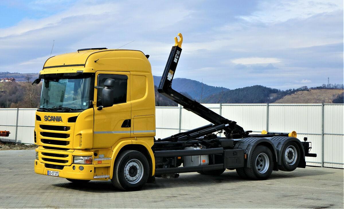 hook lift truck Scania  G380 Abrollkipper 5,80m *6x2* Top Zustand