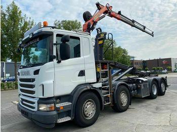Hook lift truck Scania G400 8X2 EURO 5 MET PALIFT + PALFINGER PK 8501
