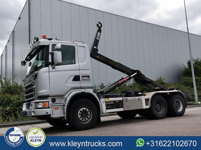 hook lift truck Scania G440 pde 6x4 hiab xr21