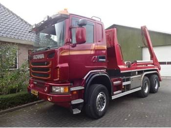 Hook lift truck Scania G450 6X6 BB Portaal Systeem