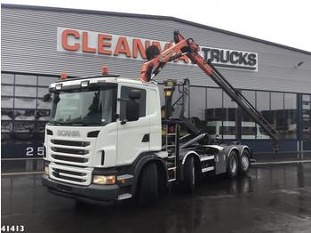 Hook lift truck Scania G 400 Palfinger 8 ton/meter laadkraan