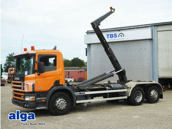Hook lift truck Scania P114GB 6x2, 340PS, Meiller RK 20.65,Standheizung