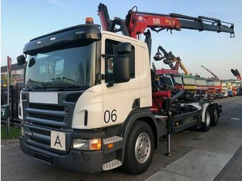 Hook lift truck Scania P320 6X2 EURO 5 + HMF 1580 T3