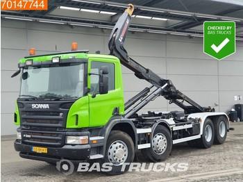 Hook lift truck Scania P380 8X2 NL-Truck HYVA 26 Tons Hooklift Manual Lift Axle Full Steel Suspension