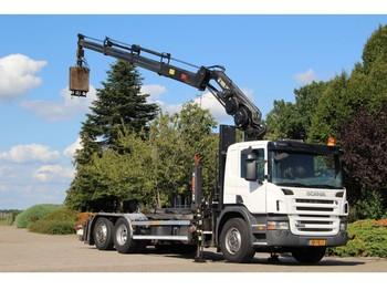 Hook lift truck Scania P380 !!KRAAN/HAAK!!EURO5!!WEEGSYSTEEM!!