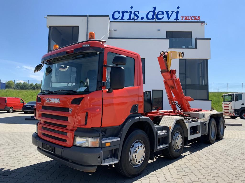 hook lift truck Scania P400 8x4  Moser Haken 26t   Retarder