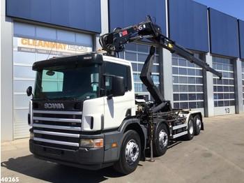 Hook lift truck Scania P 114.380 Palfinger 16 ton/meter laadkraan