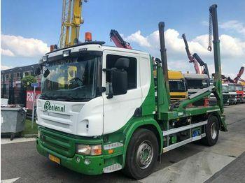 Hook lift truck Scania P 340 4X2 + PORTAAL HYVALIFT NG2014TA