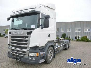 Hook lift truck Scania R410LB, Retarder, Hiab XR 20S61, Highline, Klima