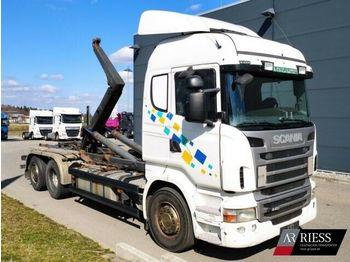 Hook lift truck Scania R440_6x2_MNA_Schaltgetriebe_Meiller_RK20.70