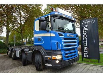 Scania R480 8x2 AP Achse  - hook lift truck