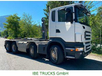 Hook lift truck Scania R480 CB 8x4, Euro 5, Trösch Abrollkipper