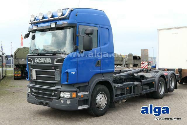 hook lift truck Scania R500 LB 6x2, V8-Motor, Meiller RK20.65, Retarder