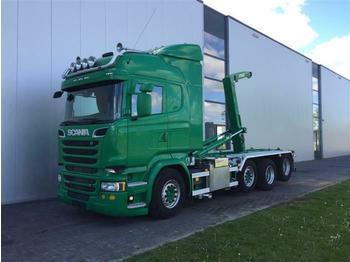 Hook lift truck Scania R520 8X2  RETARDER STEERING AXLE EURO 6 HOOK JOA