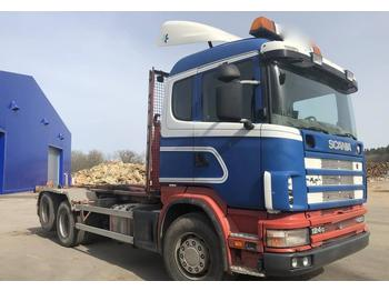 Hook lift truck Scania R 124 GB 420