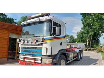 Hook lift truck Scania R 124 GB 420, 6x4
