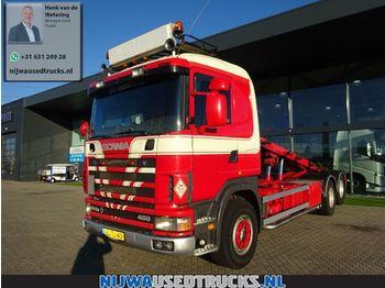 Hook lift truck Scania R 144 460 V8 20 T NCH bandsysteem + Retarder