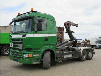 Hook lift truck Scania R 400 6x2 Abrollkipper Meiller Schub+Knickhaken