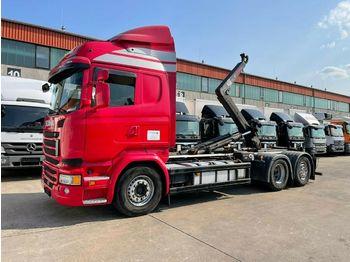 Hook lift truck Scania R 490 * HIAB  * LENK / LIFTACHSE * ACC * SPURAS