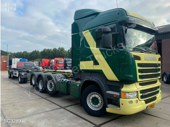 Hook lift truck Scania R 490 HL 8x2/4 | Retarder | Container-transport
