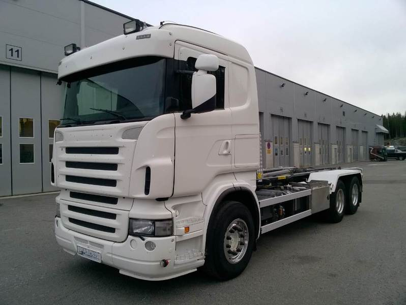 scania r 500 6x2 hook lift truck from finland for sale at