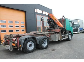 Hook lift truck VOLVO FM12,container system+kraan