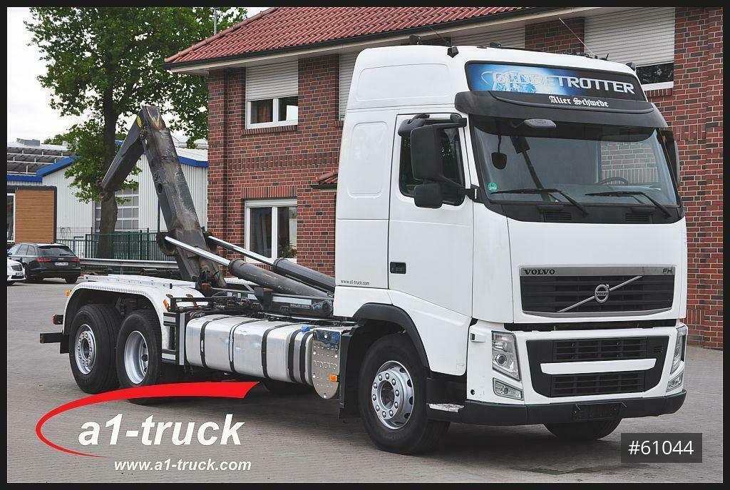 hook lift truck Volvo FH460 Meiller RK 20.70, Lenkachse