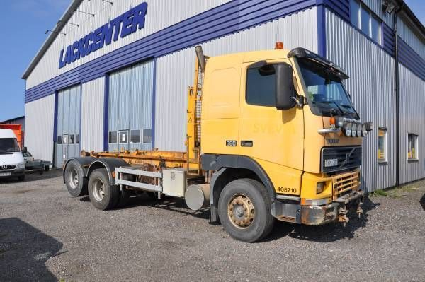 Volvo FH 12 6X2 380 hook lift truck from Sweden for sale ...