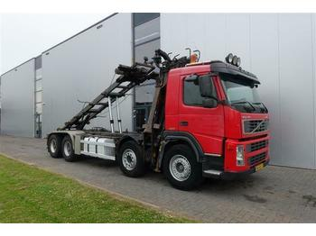 Volvo FM12.420 8X4 MANUAL HUB-REDUCTRION FULL STEEL LO  - hook lift truck