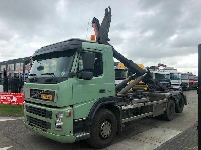 hook lift truck Volvo FM9 6X2R MET LEEBUR HAAK 21 TON