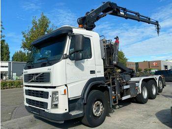 Hook lift truck Volvo FM 13-400 8X4 MET MULTILIFT 17 T + HIAB 144E-3 P