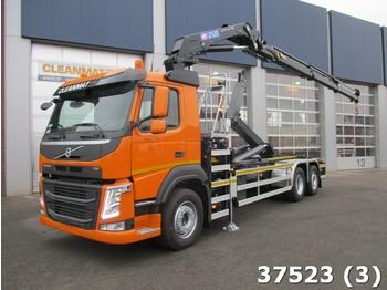 Hook lift truck Volvo FM 410 HMF 21 ton/meter laadkraan
