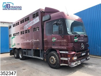 Mercedes-Benz Actros 2543 6x2, 2 layers Animal transport Body, EPS 16, 3 Pedals, Airco, Roof height adjustable - livestock truck