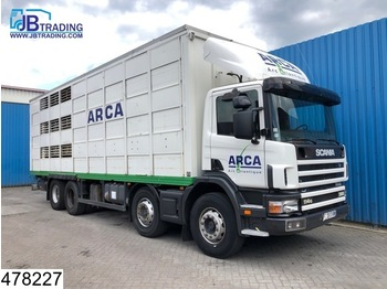 Scania 114 380 8x4, Manual, Retarder, Animal transport, 3 layers, Remote - livestock truck