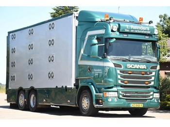 Livestock truck Scania R450 !!EURO6!! CUPPERS!!4-STOCK!!VENTILATED!!