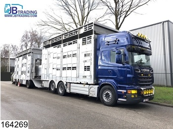 Scania R 620 6x2, EURO 5, Animal transport, 3 layers, Manual, Retarder, Airco, Standairco, Combi - livestock truck