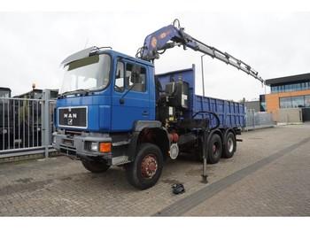Truck MAN 33.372 6X6 OPEN BOX TRUCK WITH PM 25 CRANE