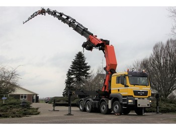 Truck MAN TGS35/480 8x4/6 PALFINGER PK150002TM JIB/ 2x WINCH 360DEGREES!!FRONT STABILIZERS ETC: picture 1
