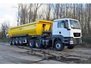 Truck MAN TGS 33.400 icw 4 axle tipper