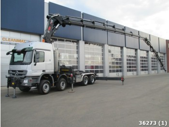 Truck Mercedes-Benz Actros 4144 8x4 Euro 5 with Hiab 105 t/m crane +