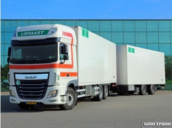 Refrigerator truck DAF XF460 FAR SSC EURO 6 6X2 TOP CONDITION 50 CC FRIGO COMBI