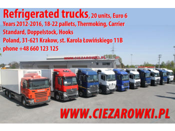 Refrigerator truck MERCEDES-BENZ SCANIA ACTROS 2540 2542 2543 2545 G 440 REFRIGERATOR LIKE NEW!